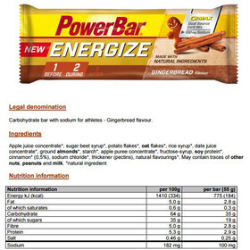 PowerBar New Energize Bar Box 25x55g Gingerbread